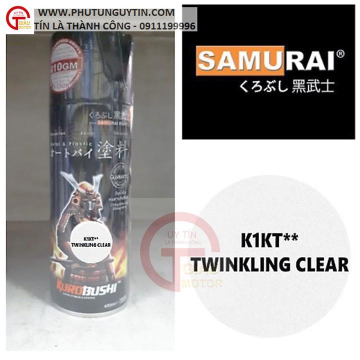 K1kt _ Chai sơn xịt sơn xe máy Samurai K1KT keo trong nhũ  lấp lánh kim tuyến _ Twinkling Clear, shop uy tín, giao nhanh 3