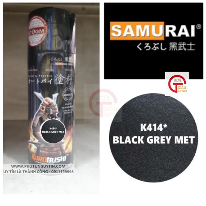 K414 _ Chai sơn xịt sơn xe máy Samurai K414 màu xám đen kim loại Kawasaki  giá rẻ, uy tín, giao hàng nhanh 9