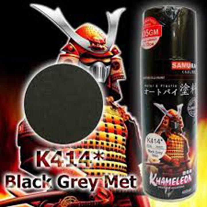 K414 _ Chai sơn xịt sơn xe máy Samurai K414 màu xám đen kim loại Kawasaki  giá rẻ, uy tín, giao hàng nhanh 5