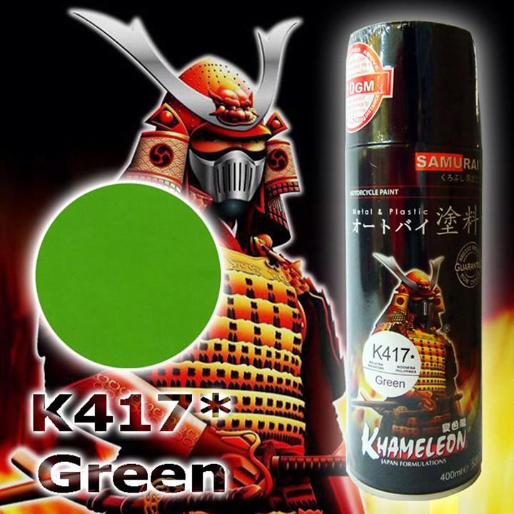 K417_ Chai sơn xịt sơn xe máy Samurai K417 màu xanh lá cây Kawasaki  giá rẻ, uy tín, giao hàng nhanh 5