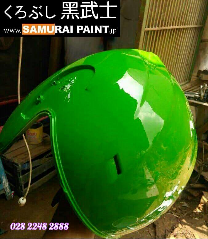 K417_ Chai sơn xịt sơn xe máy Samurai K417 màu xanh lá cây Kawasaki  giá rẻ, uy tín, giao hàng nhanh 10