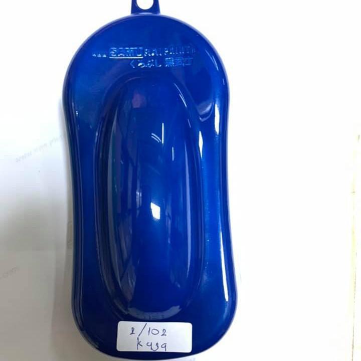 K939 _ Sơn xit Samurai K939 màu xanh sáng Kawasaki _ Lightning Blue _ Tốt, giá rẻ, ship nhanh 3