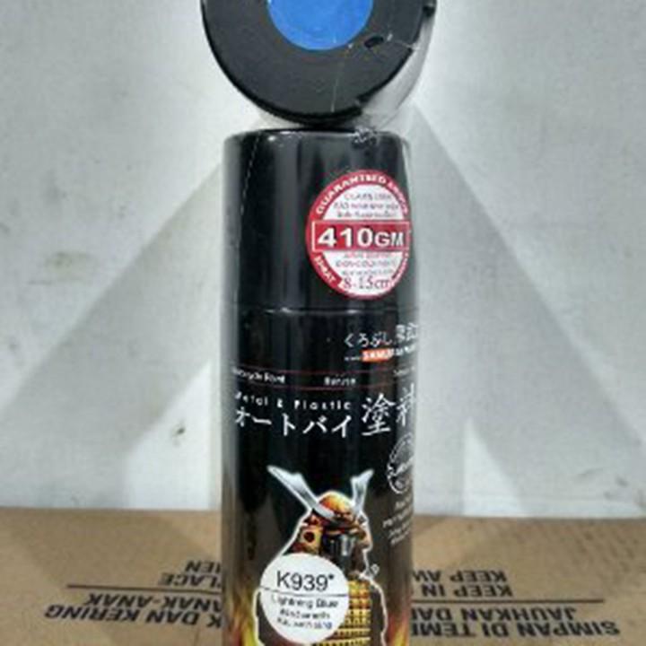 K939 _ Sơn xit Samurai K939 màu xanh sáng Kawasaki _ Lightning Blue _ Tốt, giá rẻ, ship nhanh 5