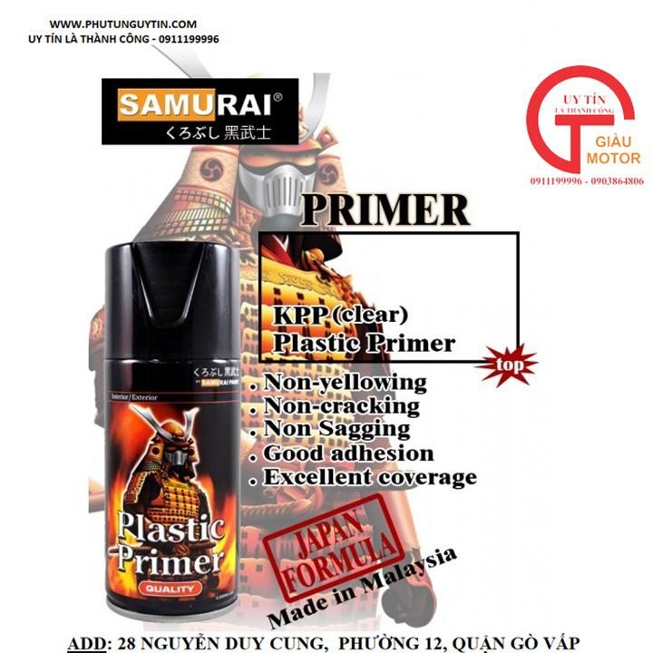KPP Chai sơn xịt s xe máy Samurai KPP _ Chất xử lý lót nhựa nhám, mủ đen - Plastic Primer - shop uy tín, giao hàng nhanh 2