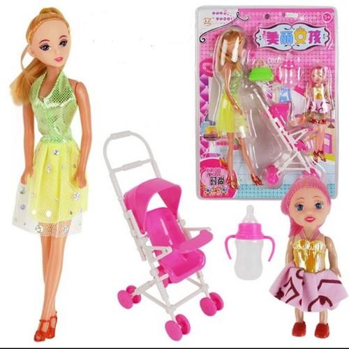 Búp bê barbie xe đẩy - 7674113 , 17481563 , 15_17481563 , 55000 , Bup-be-barbie-xe-day-15_17481563 , sendo.vn , Búp bê barbie xe đẩy