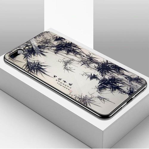 Ốp kính cường lực dành cho điện thoại iPhone 7 Plus - 8 Plus - hoa anh đào tranh phong cảnh - hadpc 027 - giá tốt