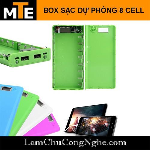 Box sạc dự phòng 8 cell 30000mAh hiển thị LCD - Không pin