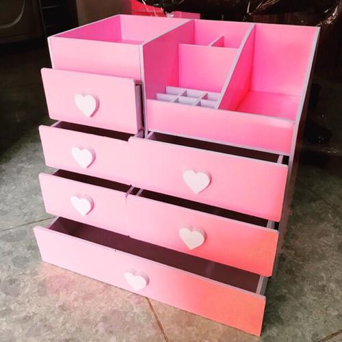 ( Tặng 1 gương mini) Kệ đựng mỹ phẩm 6 ngăn màu hồng núm trái tim siêu đẹp cho chị em đựng đồ - 4881376 , 17478883 , 15_17478883 , 350000 , -Tang-1-guong-mini-Ke-dung-my-pham-6-ngan-mau-hong-num-trai-tim-sieu-dep-cho-chi-em-dung-do-15_17478883 , sendo.vn , ( Tặng 1 gương mini) Kệ đựng mỹ phẩm 6 ngăn màu hồng núm trái tim siêu đẹp cho chị em đựn