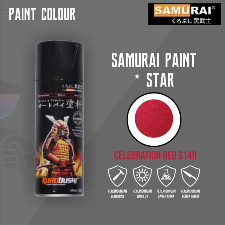 s140 _ Chai sơn xịt sơn xe máy Samurai S140 _Celebration Red _ màu đỏ rực Suzuki shop uy tín, giao nhanh, giá rẻ 2