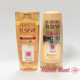 Bộ đôi dầu gội xả L'oreal Elseve Huile vàng dành cho tóc khô, làm óng tóc của Pháp - gội xả loreal vàng