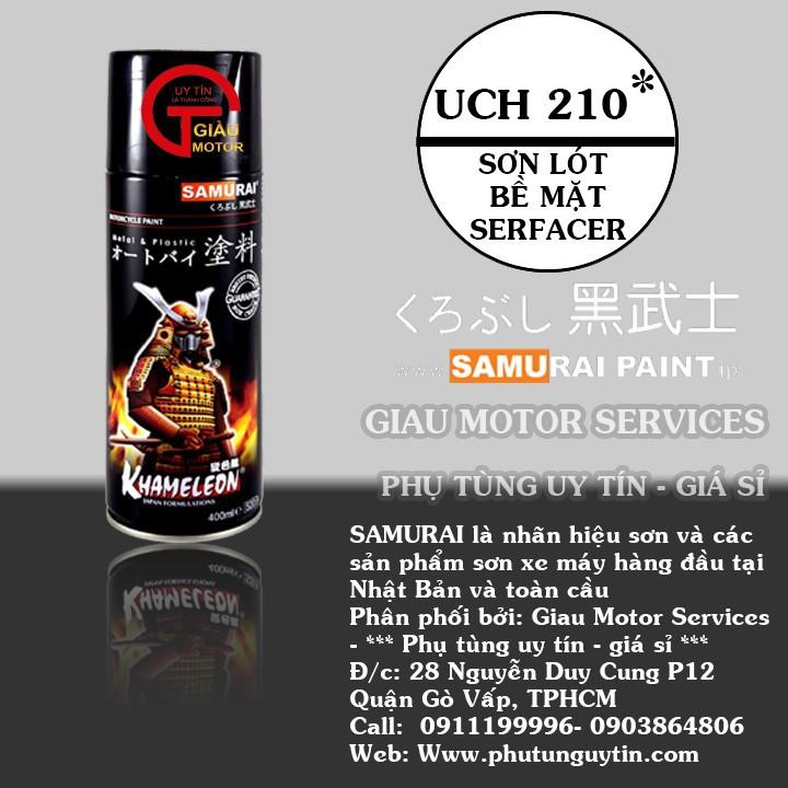 UCH210 _ Chai sơn lót sơn xe máy Samurai UCH210 1 thành phần  _Surfacer _ Shop uy tín, giao hàng nhanh, giá rẻ 1