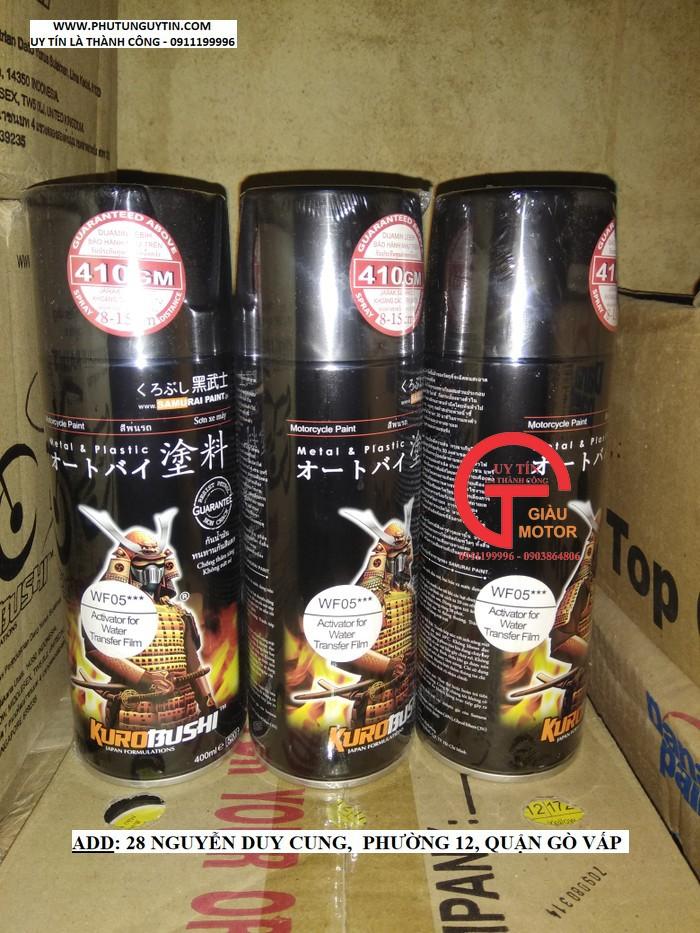 WF05 _ Chai hoạt hóa xịt sơn xe máy Samurai WF05*** _ Chất chuyển hóa phim chuyền nước _ Water Film Activator 4