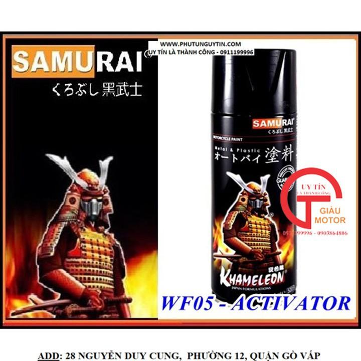 WF05 _ Chai hoạt hóa xịt sơn xe máy Samurai WF05*** _ Chất chuyển hóa phim chuyền nước _ Water Film Activator 10
