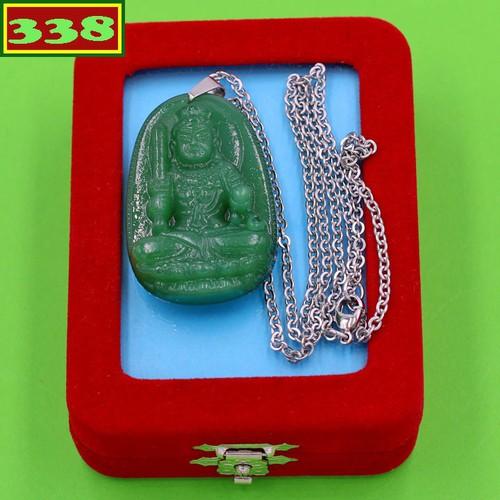 Vòng cổ Bất động minh vương thạch anh xanh 5 cm DITTXN1 kèm hộp nhung - Hộ mệnh người tuổi Dậu