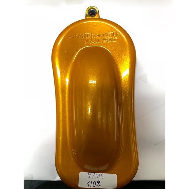 1102 _ Chai sơn xịt sơn xe máy Samurai 1102 màu vàng ánh kim tuyến Honda _ Yellow honda _shop uy tín, giao hàng nhanh 2