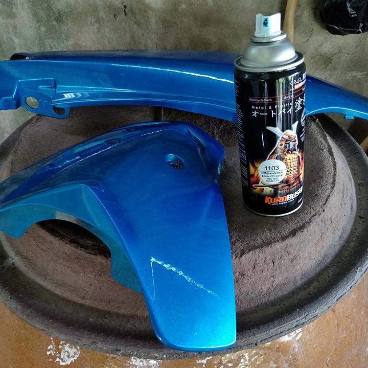 1103  _ Chai sơn xịt sơn xe máy Samurai 1103 màu xanh ánh kim tuyến  Honda _ CMT HONDA BLUE _shop uy tín 3