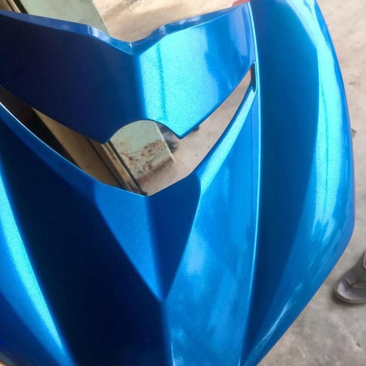 1103  _ Chai sơn xịt sơn xe máy Samurai 1103 màu xanh ánh kim tuyến  Honda _ CMT HONDA BLUE _shop uy tín 7