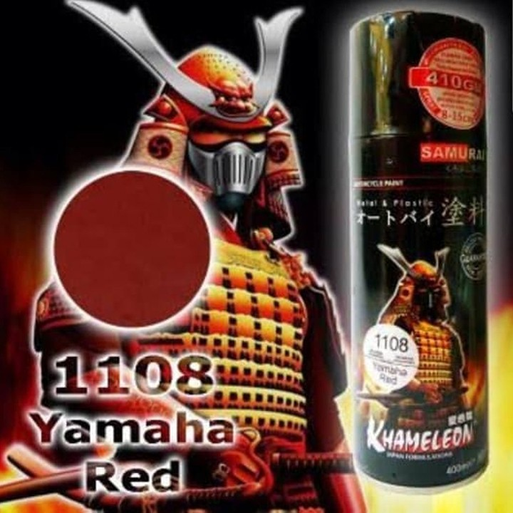 1108 _ Sơn xit Samurai 1108 màu đỏ Yamaha _Yamaha Red _ Tốt, giá rẻ, ship nhanh 2
