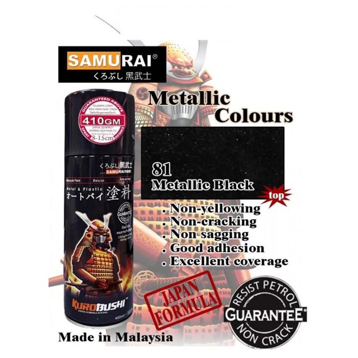 1139 _ Sơn xit Samurai 1139 màu đen kim loại _ Metallic Black _Tốt, giá rẻ, ship nhanh 2