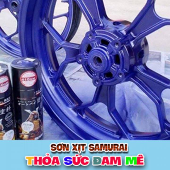 1142 _ Chai sơn xịt sơn xe máy Samurai 1142 màu tím đậm _SUPER VIOLET, màu siêu bền đẹp, giá rẻ 5