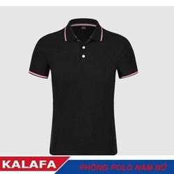 Áo phông nam ngắn tay cổ bẻ màu đen thời trang KALAFA