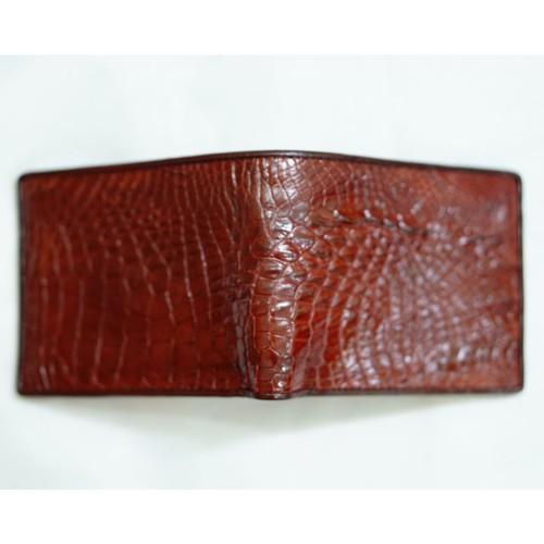 Ví Da Cá Sấu - Màu Nâu Đỏ Dáng Ngang - VCS001-NDODN