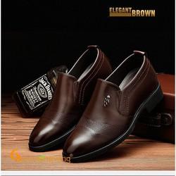 Giày nam tăng chiều cao vô hình giày tây nam tăng chiều cao 6cm -