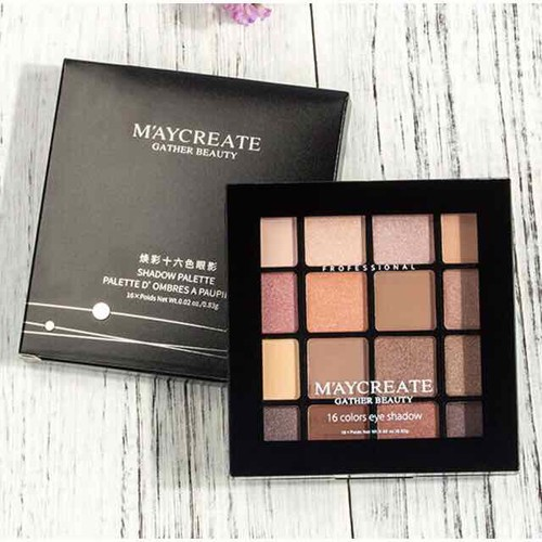 Bảng Phấn Mắt 16 Màu Ombres A Paupila Của Maycreate