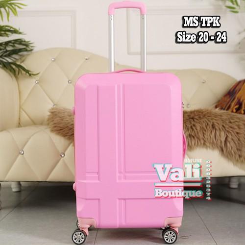 Vali kéo nhựa chữ thập - hồng - size 24
