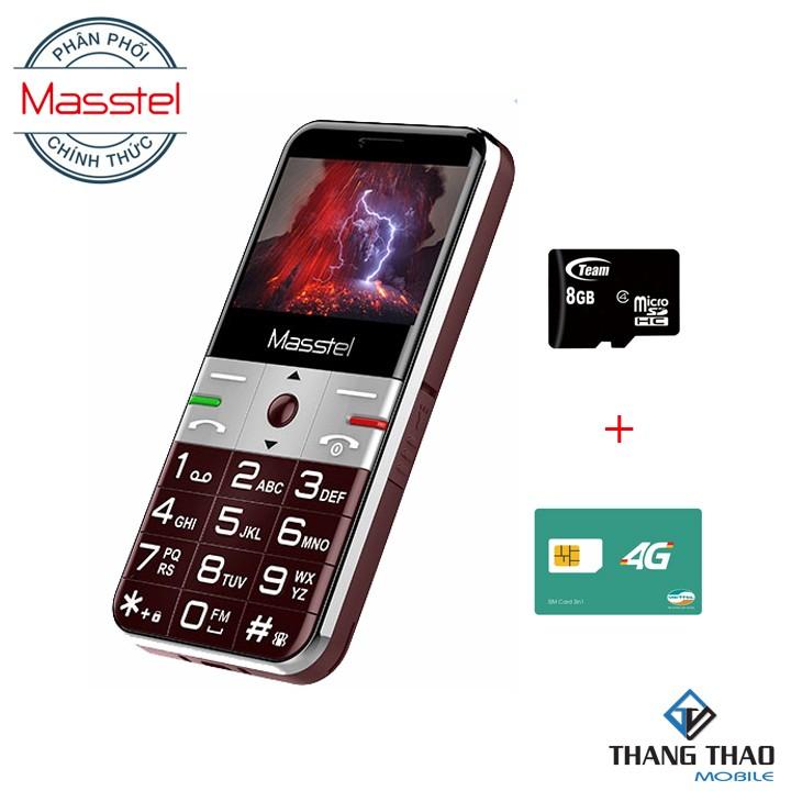 Điện Thoại Di Động Masstel Fami S Tặng đế sạc + Sim 4G + Thẻ nhớ 8Gb - Hãng chính hãng - Masstel Fami S