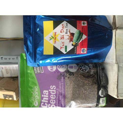 Combo Trà Bí Đao Hạt Chia - Gồm 1 gói trà bí đao hoà tan và 100gam hạt chia