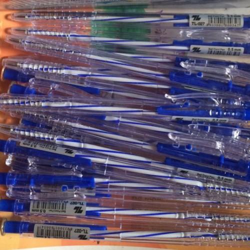Combo 100 bút bi xanh đầu nhọn