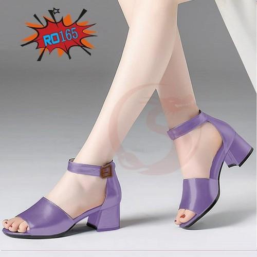 Giày cao gót nữ đẹp hở mũi 5cm hai màu tím xám hàng hiệu rosata ro165 - 20193772 , 17522425 , 15_17522425 , 670000 , Giay-cao-got-nu-dep-ho-mui-5cm-hai-mau-tim-xam-hang-hieu-rosata-ro165-15_17522425 , sendo.vn , Giày cao gót nữ đẹp hở mũi 5cm hai màu tím xám hàng hiệu rosata ro165