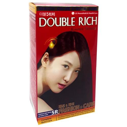 Thuốc nhuộm tóc Double Rich French Red Wine 5R màu đỏ đằm thắm - 4886312 , 17515038 , 15_17515038 , 127000 , Thuoc-nhuom-toc-Double-Rich-French-Red-Wine-5R-mau-do-dam-tham-15_17515038 , sendo.vn , Thuốc nhuộm tóc Double Rich French Red Wine 5R màu đỏ đằm thắm