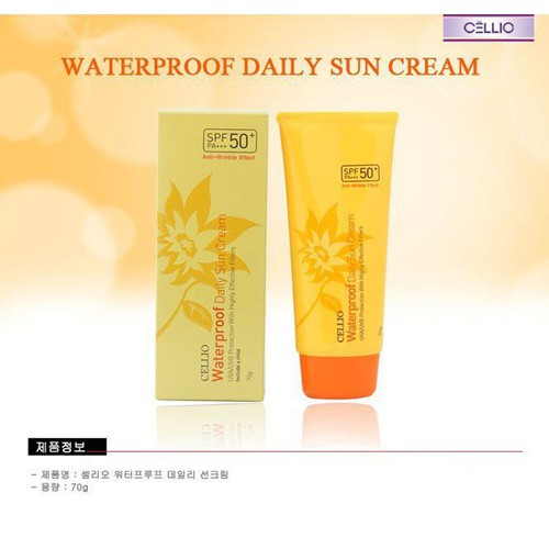 Kem chống nắng Cellio Waterproof Daily Sun Cream 70g