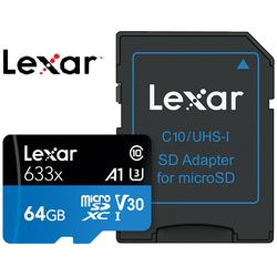Thẻ Nhớ Lexar Micro SDXC 633X 64GB 95MBs Có Adapter - Hàng Chính Hãng