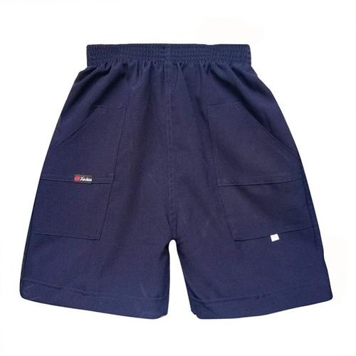 Quần short đồng phục học sinh màu xanh - Ninedra