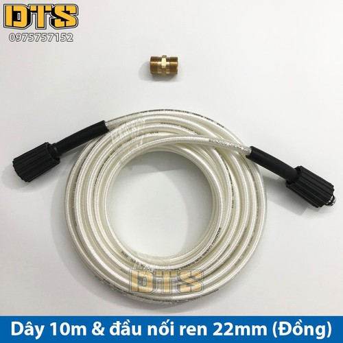 Bộ 10m dây rửa xe nối dài thêm cho máy xịt rửa áp lực - Đầu nối đồng - 9015831 , 18674452 , 15_18674452 , 195000 , Bo-10m-day-rua-xe-noi-dai-them-cho-may-xit-rua-ap-luc-Dau-noi-dong-15_18674452 , sendo.vn , Bộ 10m dây rửa xe nối dài thêm cho máy xịt rửa áp lực - Đầu nối đồng