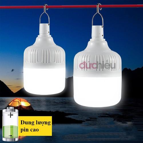 Bóng đèn tích điện 80w, bóng đèn LED sạc tích điện thông minh, đèn sạc - Đức Hiếu Shop