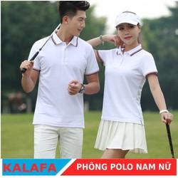Áo phông nam ngắn tay cổ bẻ màu trắng thời trang KALAFA