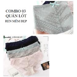 TỐT CHO SỨC KHỎE - COMBO 03 chiếc quần lót ren mềm loại đẹp Ducita6666