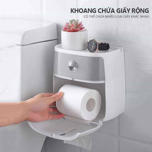 HỘP ĐỰNG GIẤY VỆ SINH 2 TẦNG ECOCO - 11553279 , 17522188 , 15_17522188 , 215000 , HOP-DUNG-GIAY-VE-SINH-2-TANG-ECOCO-15_17522188 , sendo.vn , HỘP ĐỰNG GIẤY VỆ SINH 2 TẦNG ECOCO