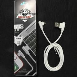Cáp sạc Micro usb AKUS GC45 đầu cong dây bện mã FE04
