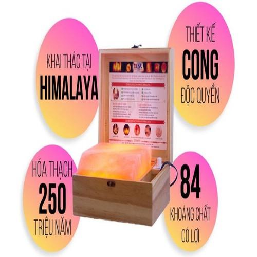 Hộp Đèn Đá Muối Hồng NGOẠI Massage ĐA NĂNG CHỮA BỆNH