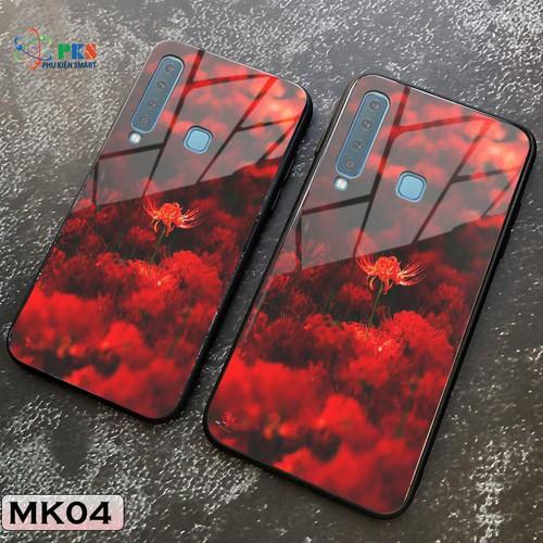 Ốp lưng Samsung Galaxy A9 in 3D hoa bỉ ngạn mặt lưng kính cường lực sáng bóng
