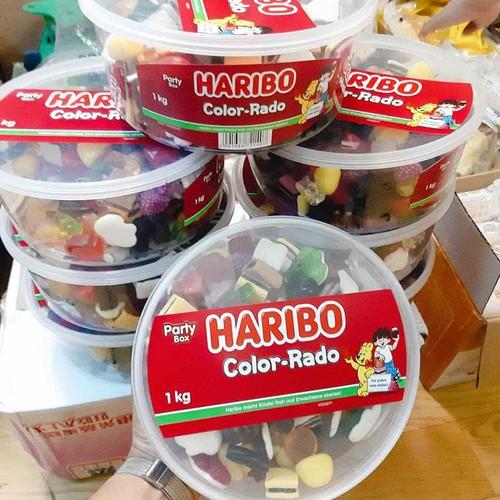 Kẹo Dẻo Haribo Color-Rado Đức 1kg date 12-2019