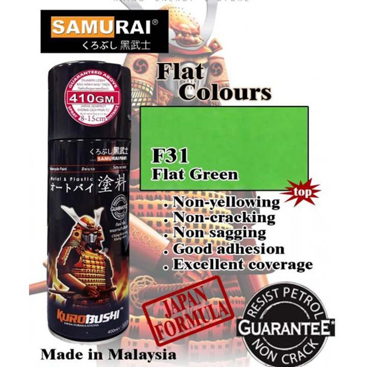 231 _ Chai sơn xịt sơn xe máy Samurai 231 màu xanh lá nhạt _ Leaf Green _ shop uy tín, giao hàng nhanh, giá rẻ 2