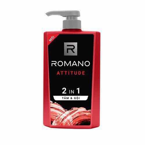 Tắm gội 2 trong 1 Romano Attitude 650g