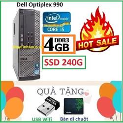 Đồng Bộ Dell Optiplex 990 Core i5 2400 , Ram 4G , SSD 240G , Tặng USB Wifi , Bàn di chuột , Bảo hành 24 tháng