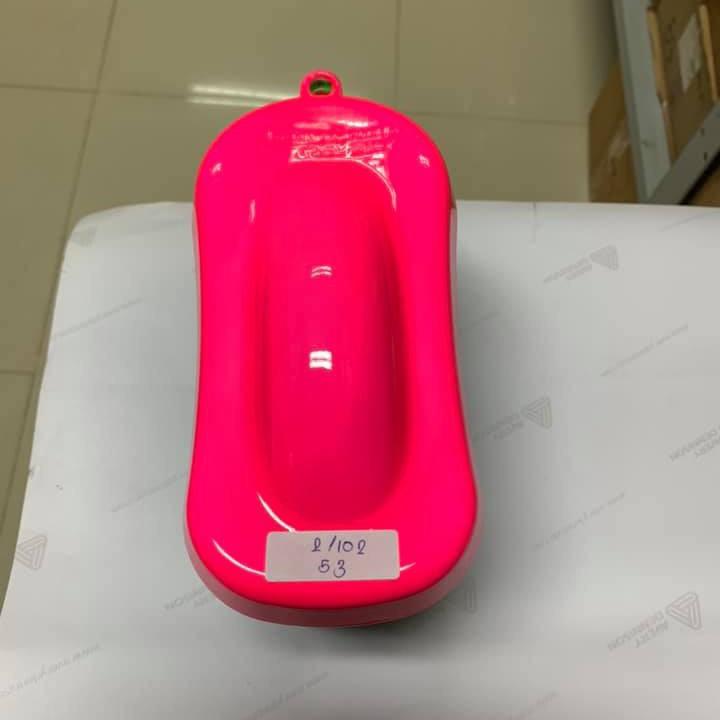 53 _ Chai sơn xịt sơn xe máy Samurai 53** màu hồng huỳnh quang  _ Fluorescent Pink   sơn mâm xe máy và nhựa 3